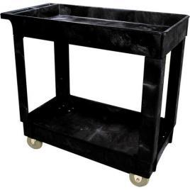 Rubbermaid 16″ X 34″ Heavy-Duty Rolling Cart – Black